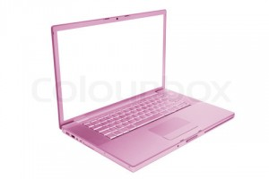 pink and fashionable laptop